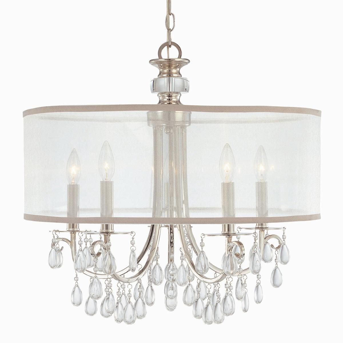 Modern Glam Shaded Crystal Chandelier - 5 Light | Crystal ...