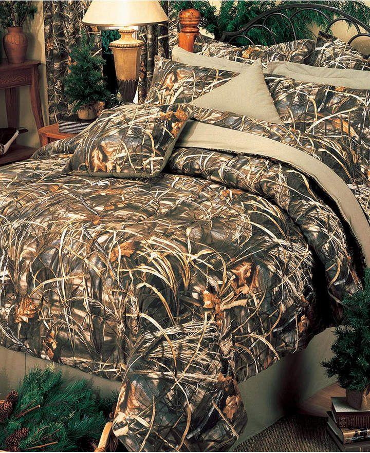 Realtree Max 4 Queen Comforter Set Bedding Comforters Camo Bedding Comforter Sets