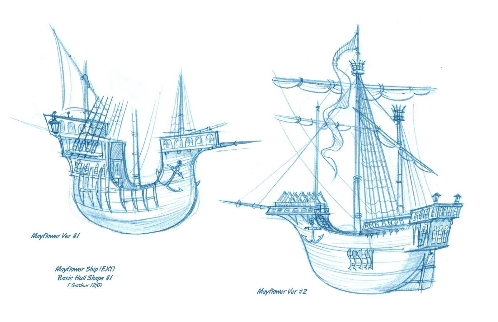 Hermosa Mayflower Para Colorear Motivo - Ideas Para Colorear ...