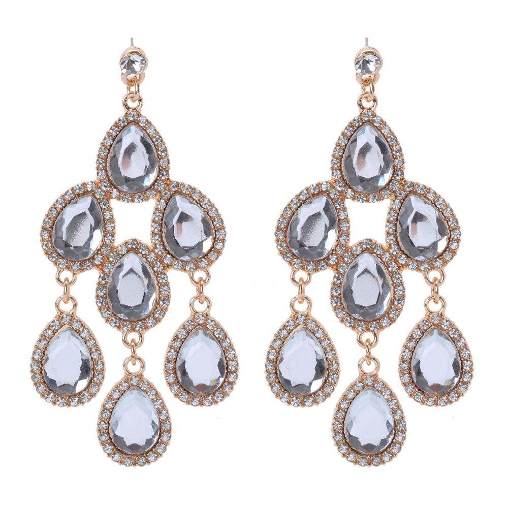 Glam Teardrop Drop Earrings