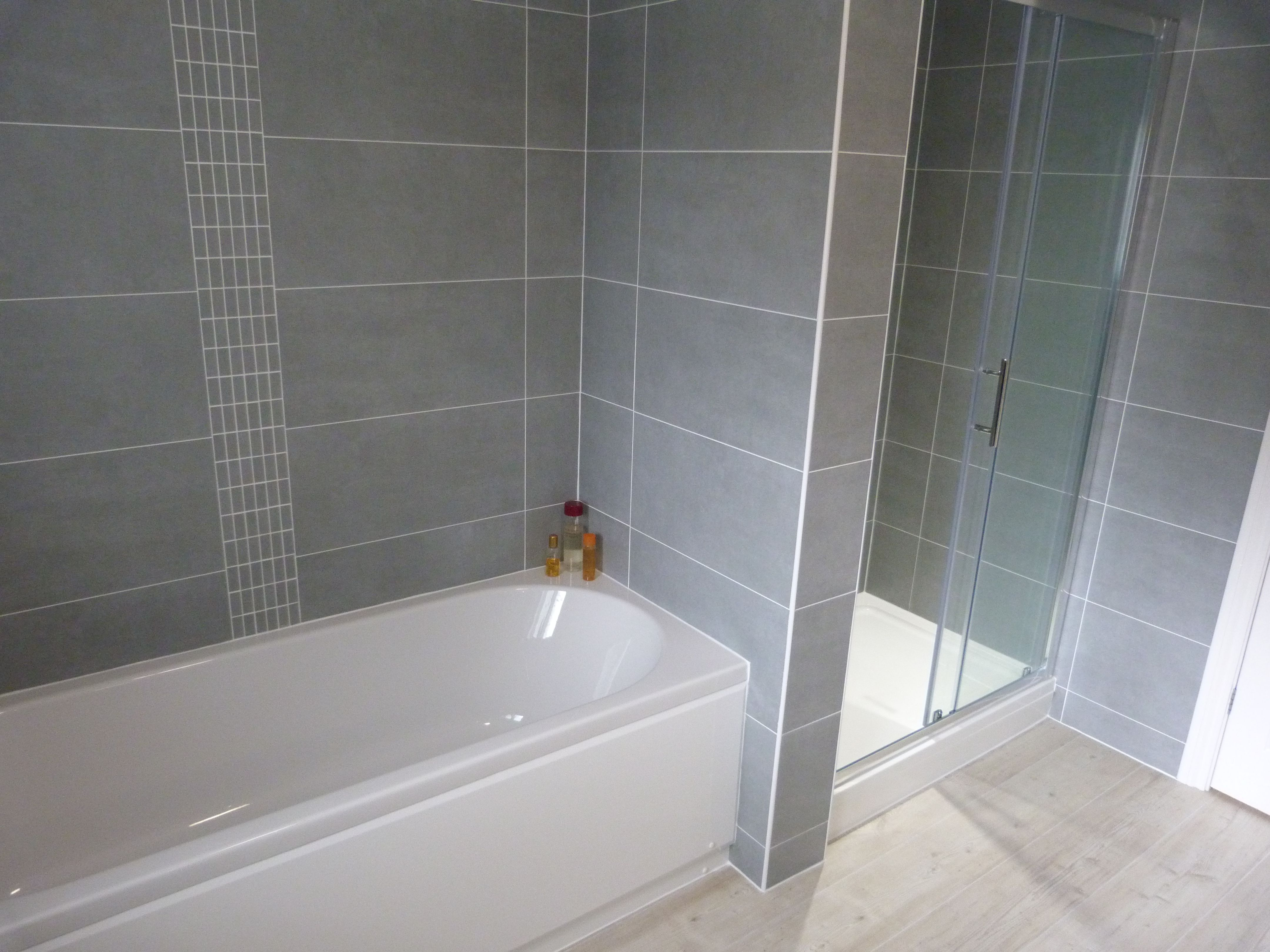 Bathroom Tile Ideas Grey En Suite Refurbishment Recently Completed A Shower