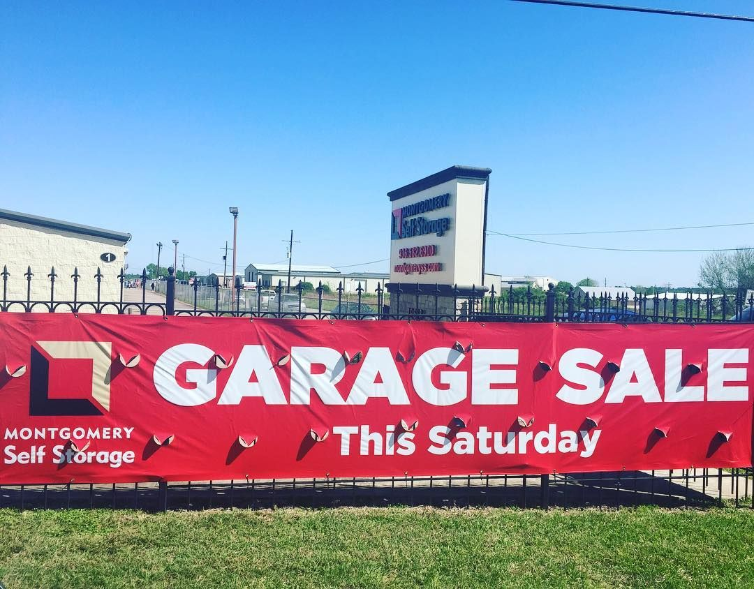 Come Search For Treasure At Our Garage Sale This Saturday Customers Are Going To Open Up Their Units So There S Sure To B Self Storage Montgomery Garage Sales