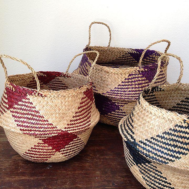 Rice basket, paniers boule   Paniers   Pinterest   Panier, Tressage ... cb99062d0f3f
