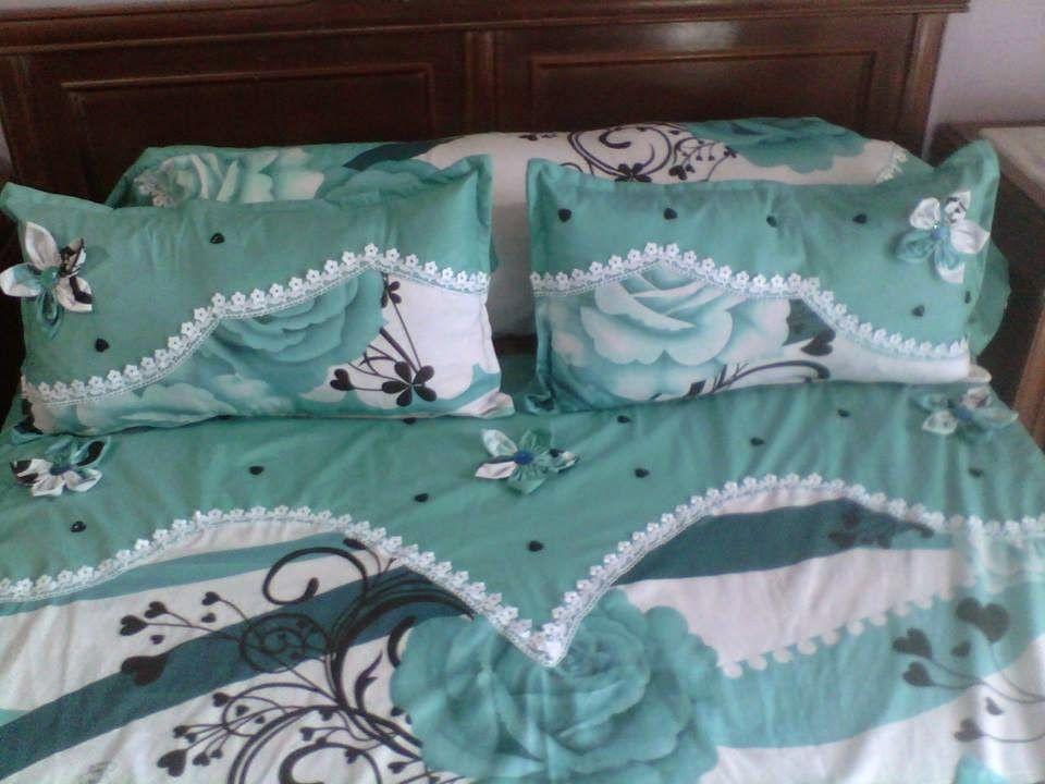 مودلات اغلفة و افرشة غرف النوم مودلات جديدة بسيطة و رائعة ادا اعجبتكي اخيطي مثلها لتظيين غرفت نو Bed Sheet Painting Design Bed Cover Design Designer Bed Sheets