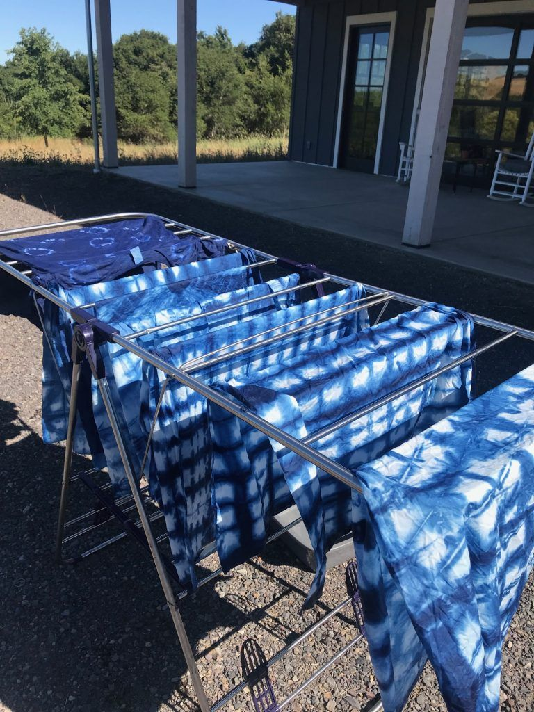 Indigo dye experiments dye kit giveaway outdoor