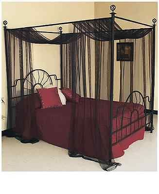 Room · Black Bed Canopy Drapes Curtains Bedroom Queen Full Size ... & American Metalcraft BZZ95B Rectangular Wire Zorro Baskets Small ...