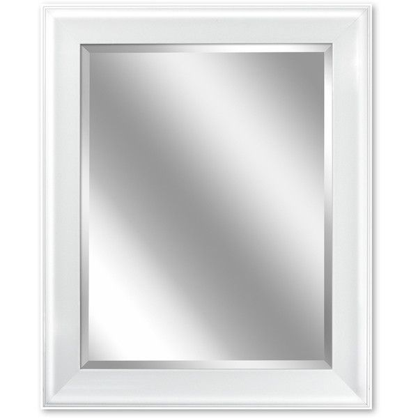 Awesome Websites allen roth in W x in H White Rectangular Bathroom Mirror