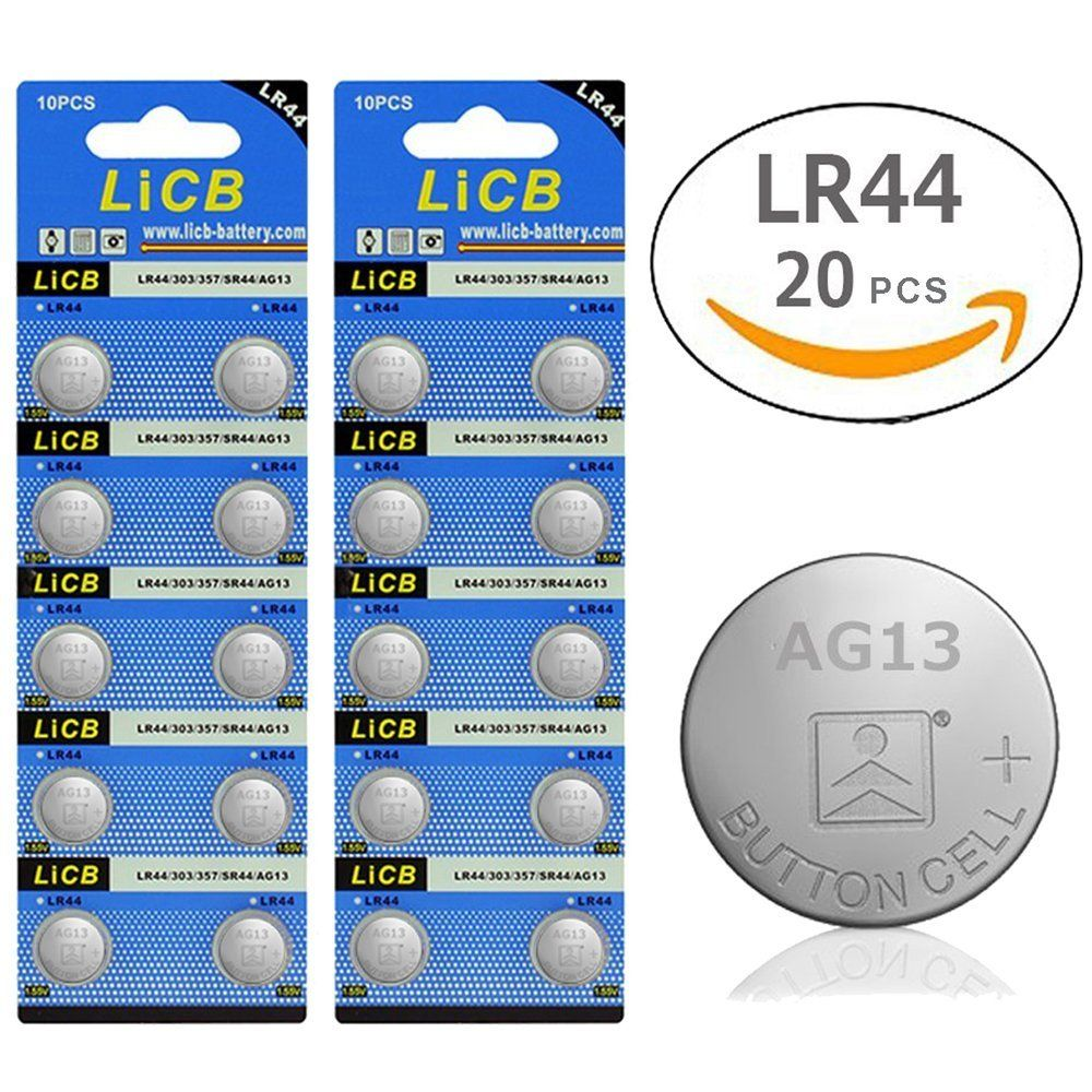 Amazon Com Licb 20 Pack Lr44 Ag13 357 303 Sr44 Battery 1 5v Button Coin Cell Batteries Camera Photo Cell Button Cell Batteries