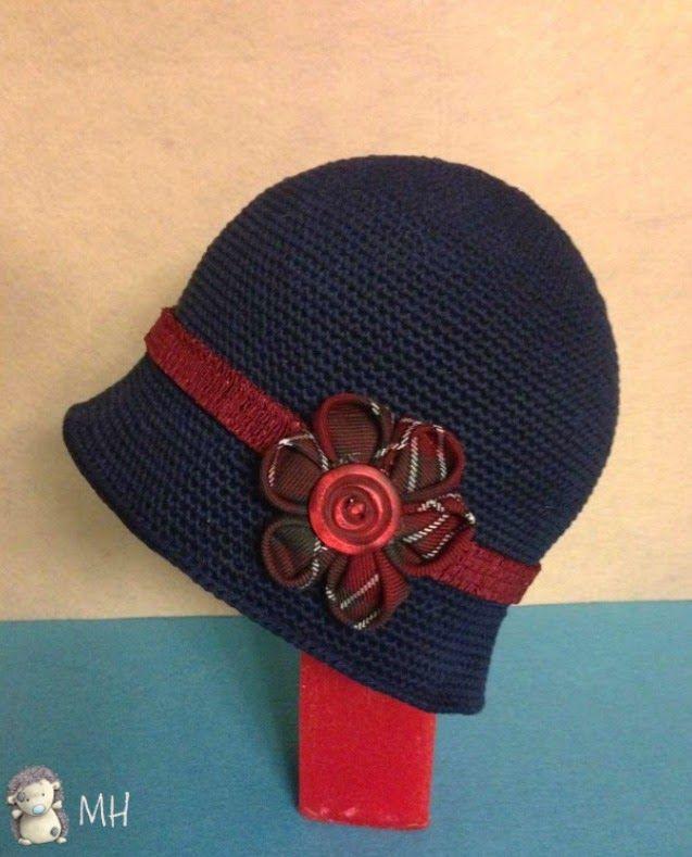 Precioso gorro cloche, con tutorial | sombreros de crochet ...