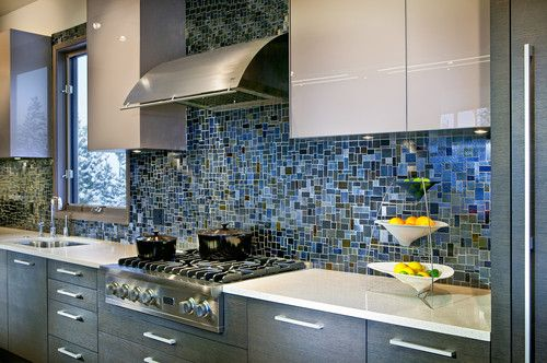 Pretty Blue Kitchen Tile Backsplash   13 Beautiful Backsplash Ideas To Add  Character To Your Kitchen
