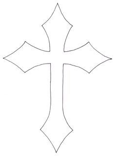 Cross Tattoo Outline : cross, tattoo, outline, Outline, Everything
