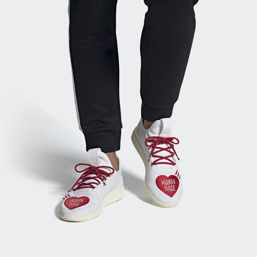 Tennis Hu Human Made Cloud White Scarlet Cream White Ef2392 Adidas Online White Adidas How To Make Shoes