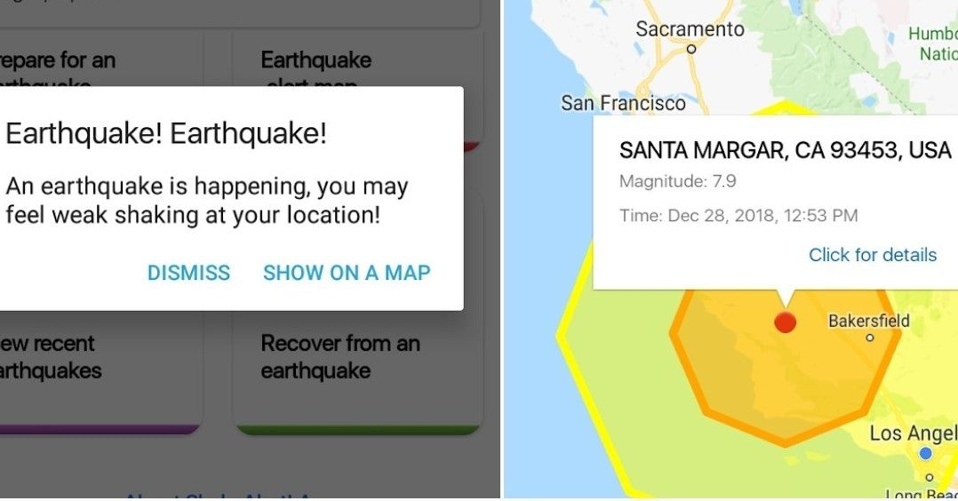 The mobile app will notify users when a magnitude 5.0 or