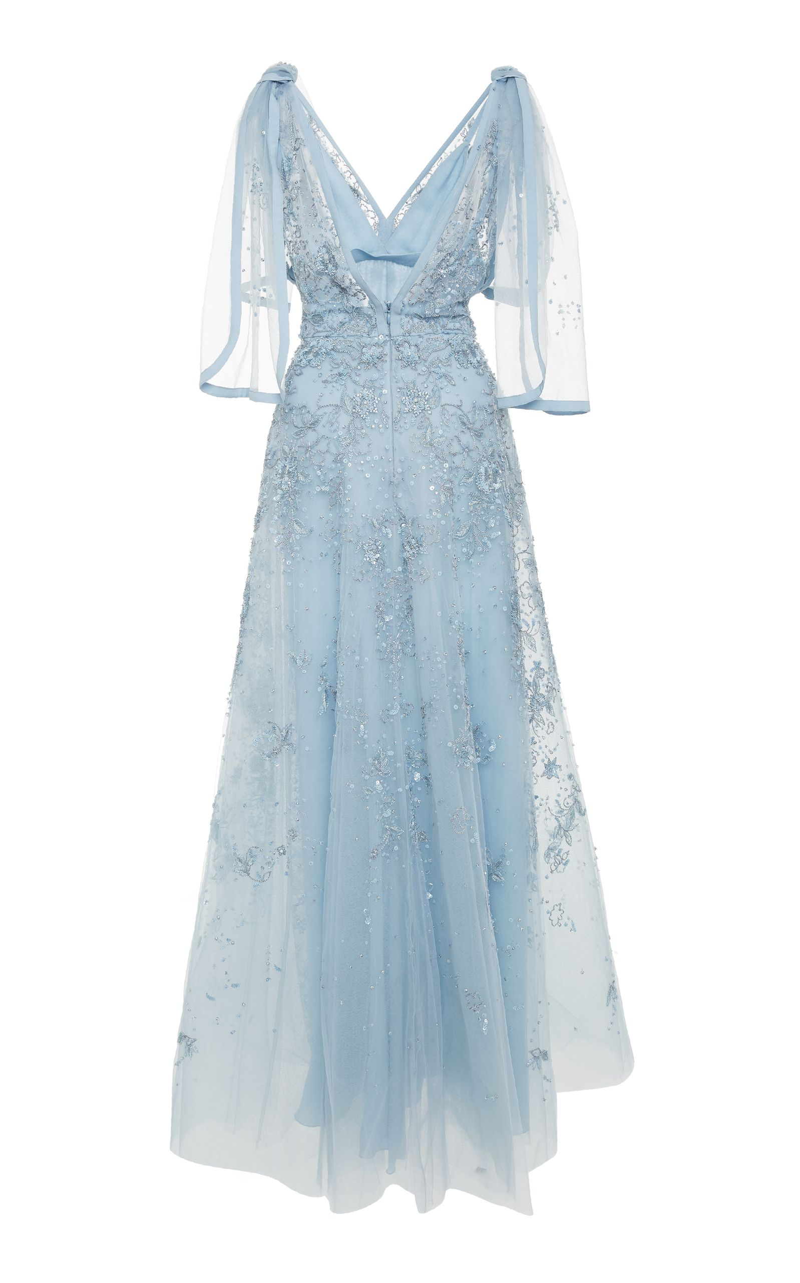Elie Saab Embroidered Dress With Knotted Shoulders | La coleccion ...