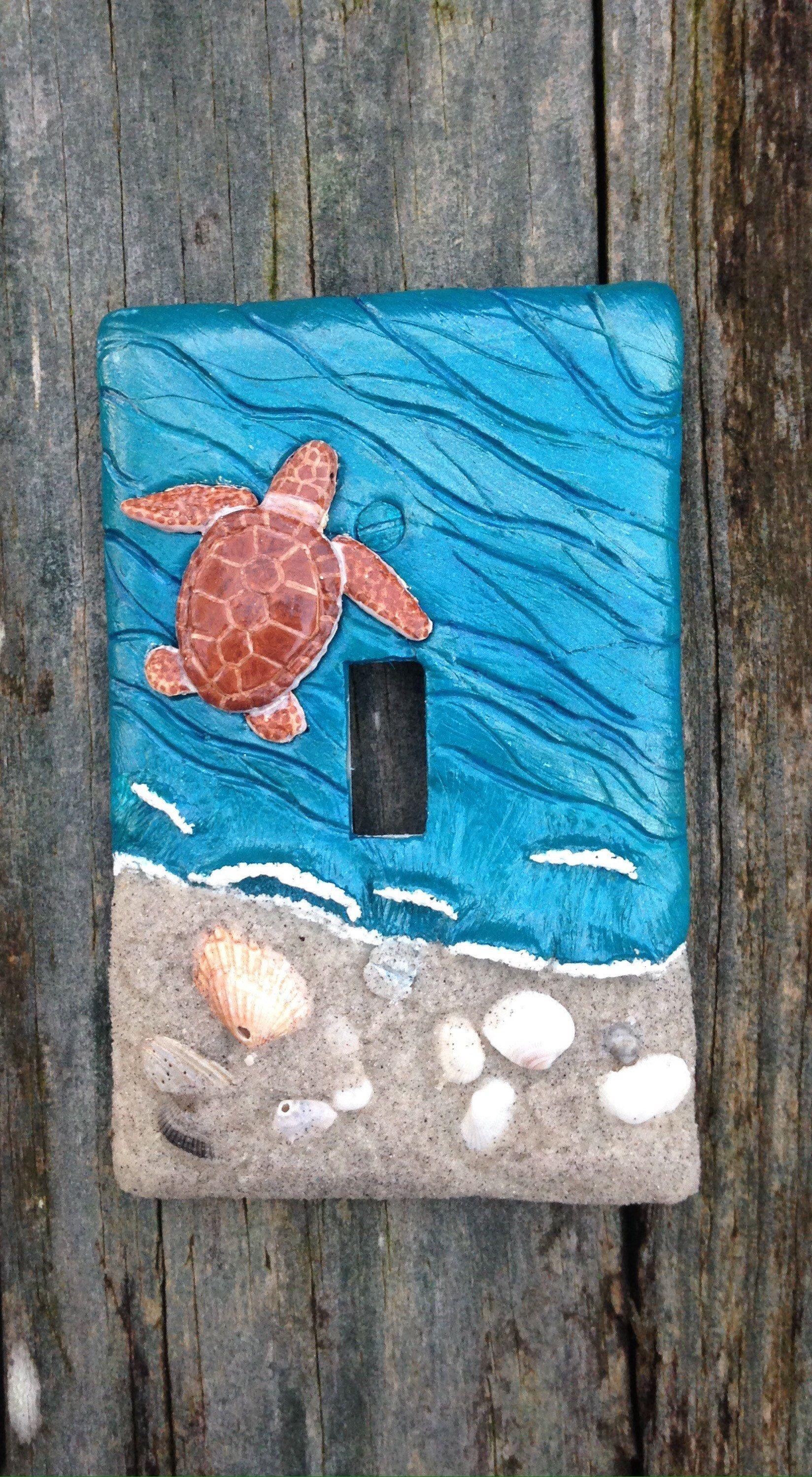 Loggerhead 3d Sea Turtle Light Switch Cover Plate Sea Life