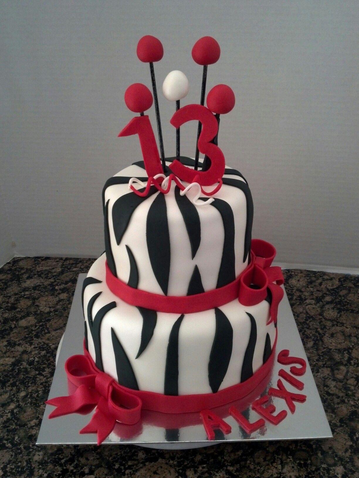 13th Birthday Cake My Cakes Pinterest