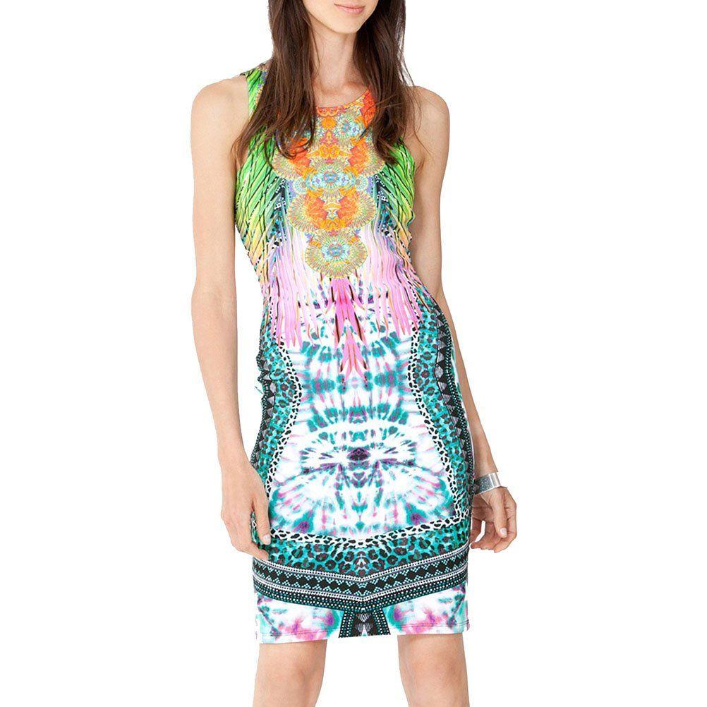 Hale bob sky high neoprene tank dress only in your kaleidoscope
