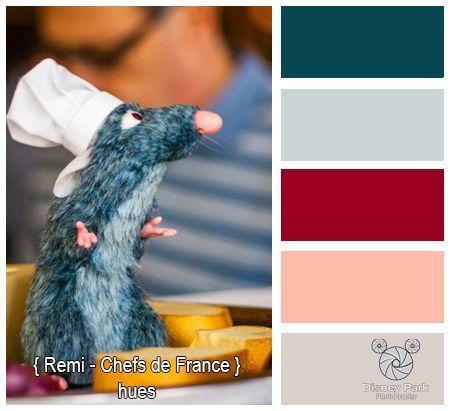 Disney Park Photography Photo Chefs De France Remi Colors Paint Color Schemes