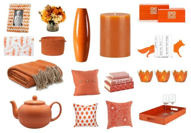 Bring Summer Inside With Bright Orange Decor | Sunshine, Living Rooms And  Room