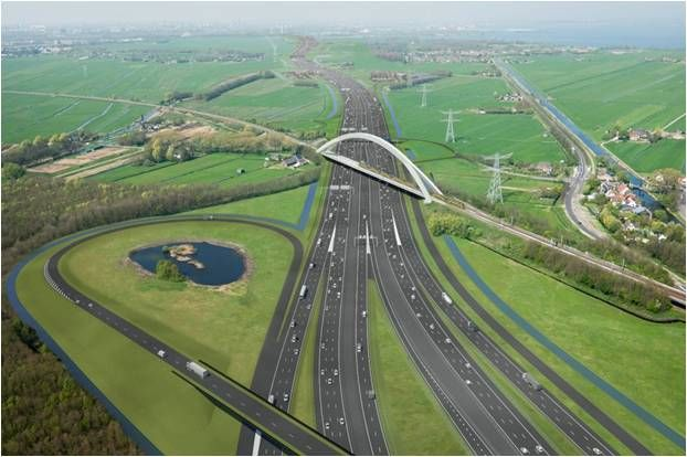 Project A1/A6 Diemen-Almere Havendreef in the Netherlands
