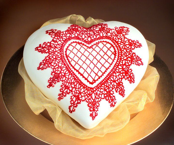 Valentine lace pattern | SugarVeil How-to's | Cake ...