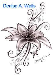 Lily Tattoos Google Leit Flower Tattoos Tattoos Larkspur Tattoo