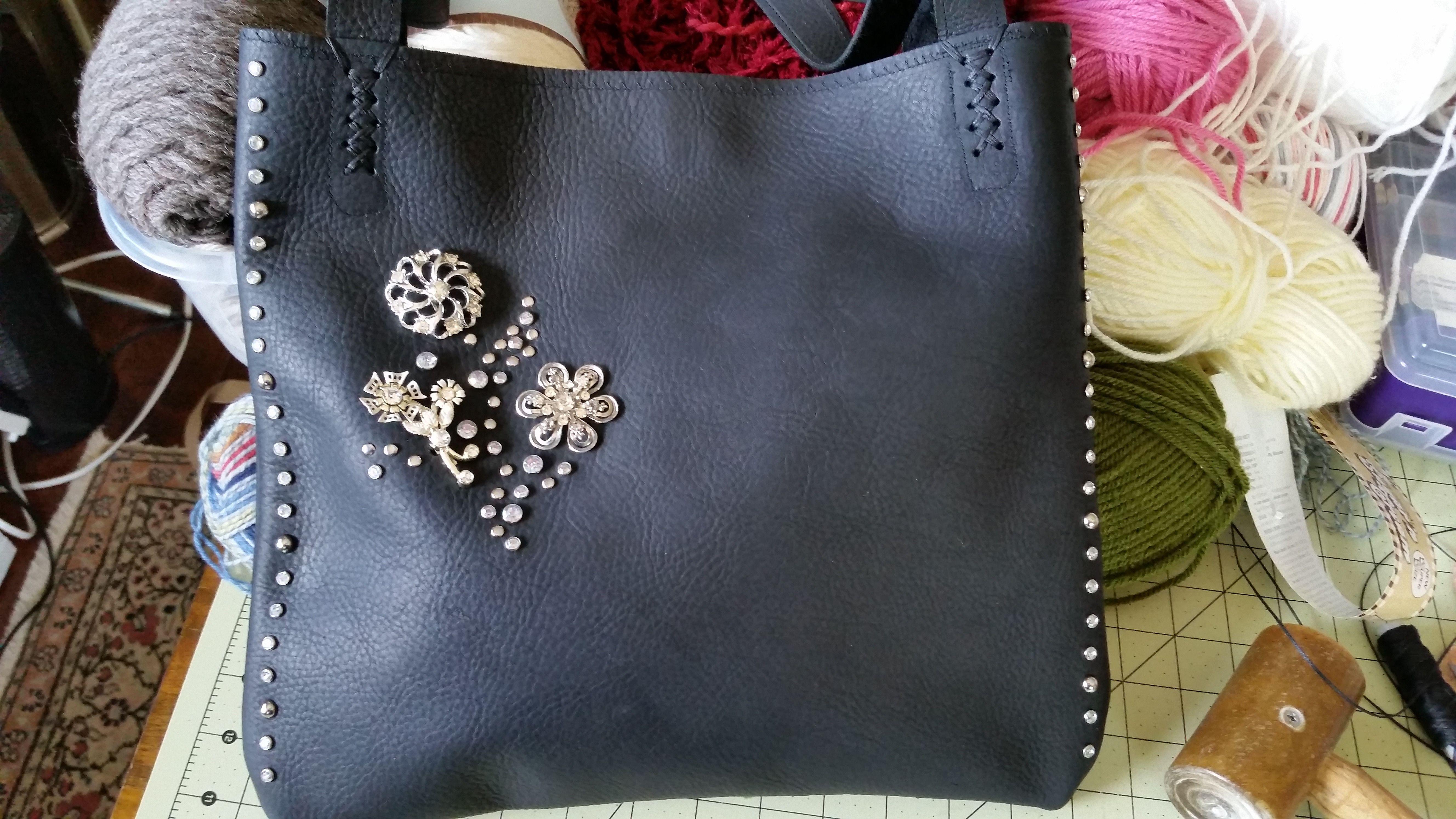 Custom Made Black Kodiak Leather lined computer bag - Love this bag!