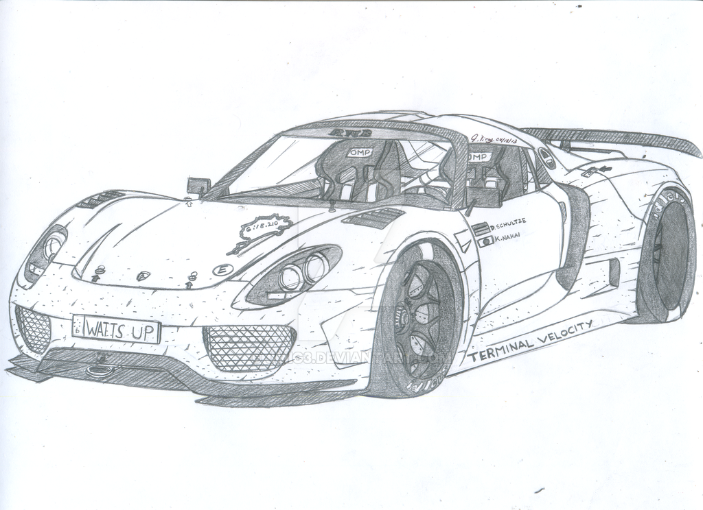 Porsche Sketches - save our oceans