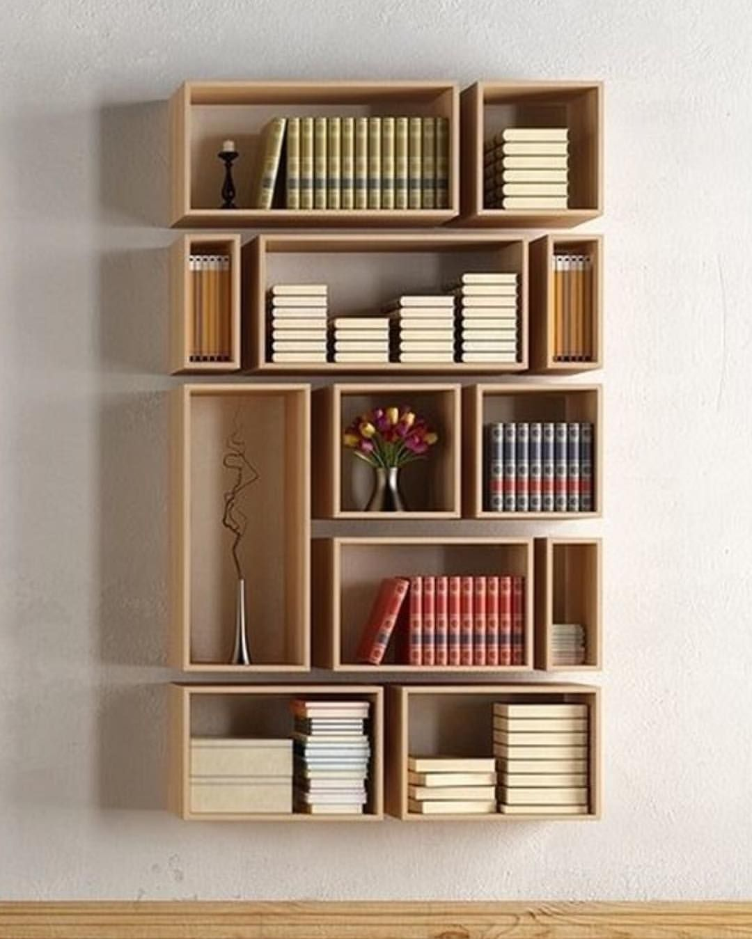 Wall Bookshelf Part - 32: Book Lovers Dream ? #bookshelf #bookshelfdesign Via @homeadore