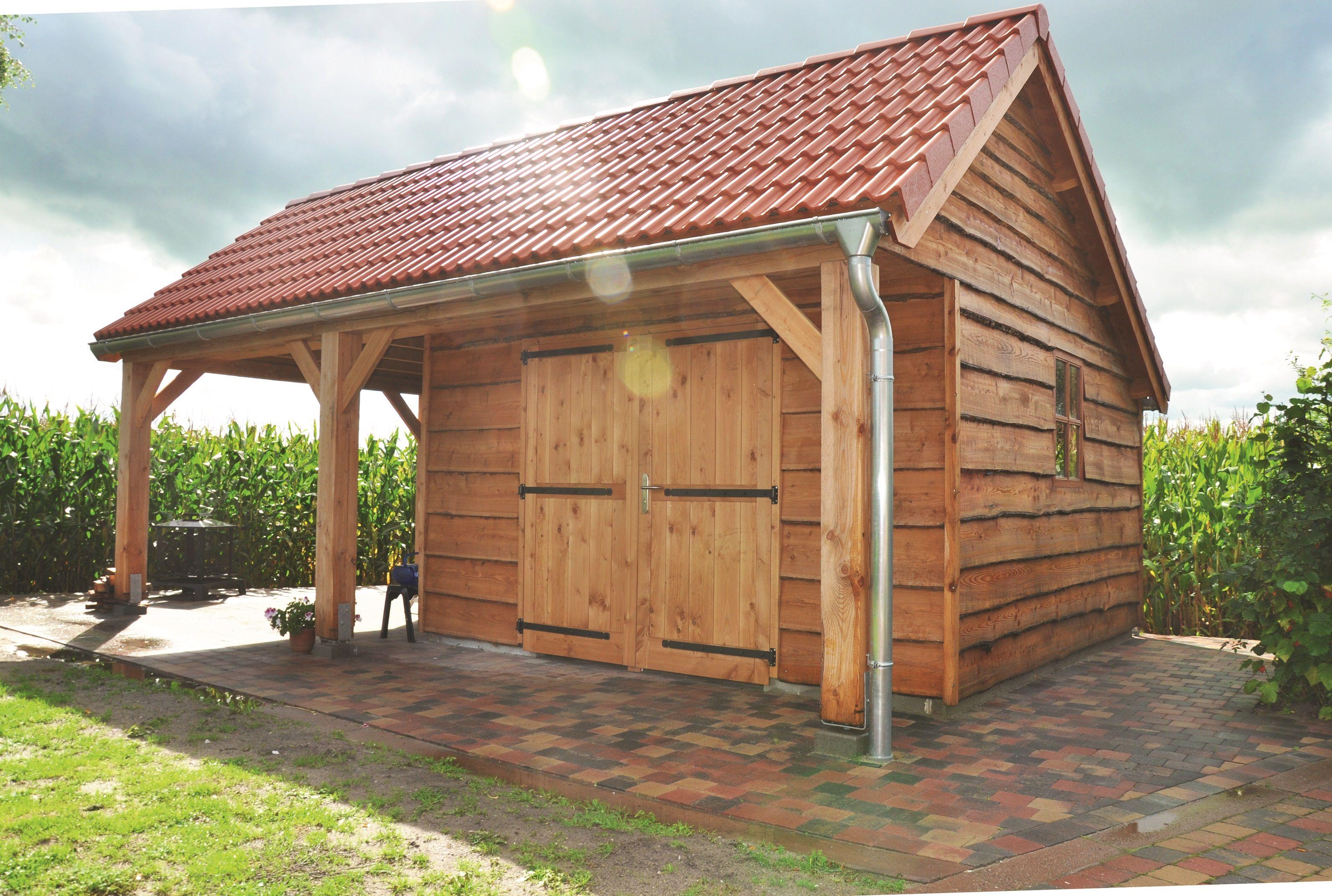Moderne Remise Bestehend Aus Gartenhaus Mit Terrasse Mit