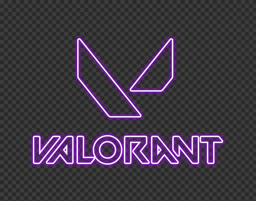 Hd Valorant Purple Neon Logo With Symbol Png Citypng Neon Logo Symbols Neon