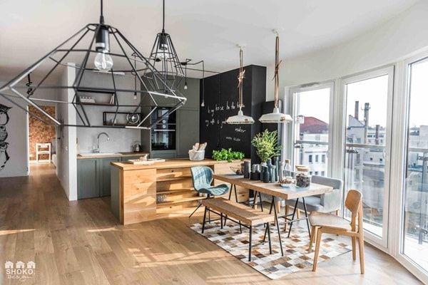 Apartamento Estilo Nordico Industrial Decoracion Escandinava Decoracion De Comedor Estilos De Diseno De Interiores Cocina Estilo Industrial