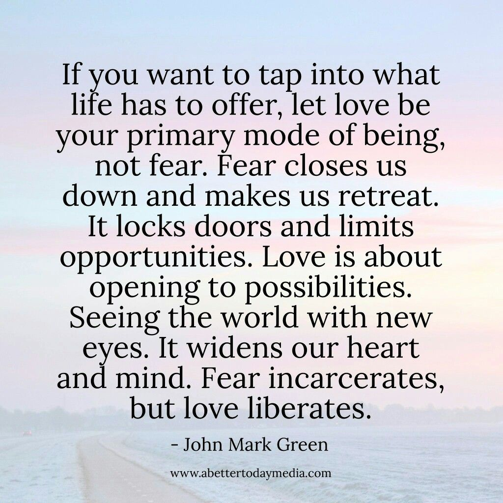 Love versus fear in relationships