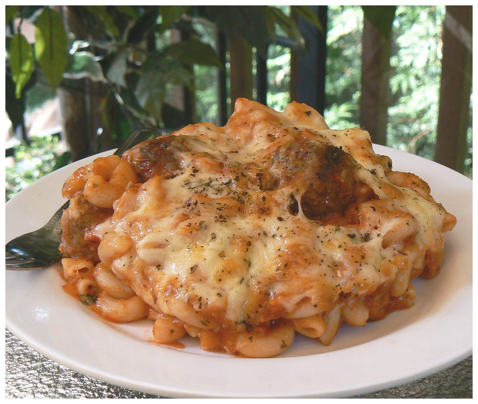 WOW! Veal meatball pasta bake