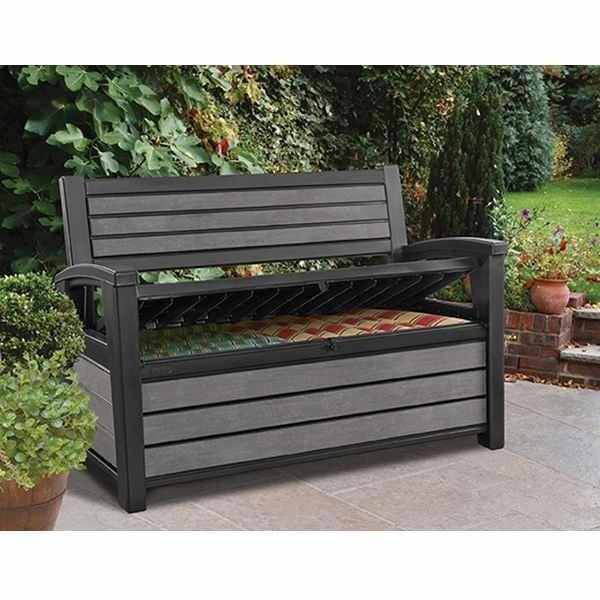 Keter Hudson Storage Bench In 2020 Deck Box Bench Storage Bench