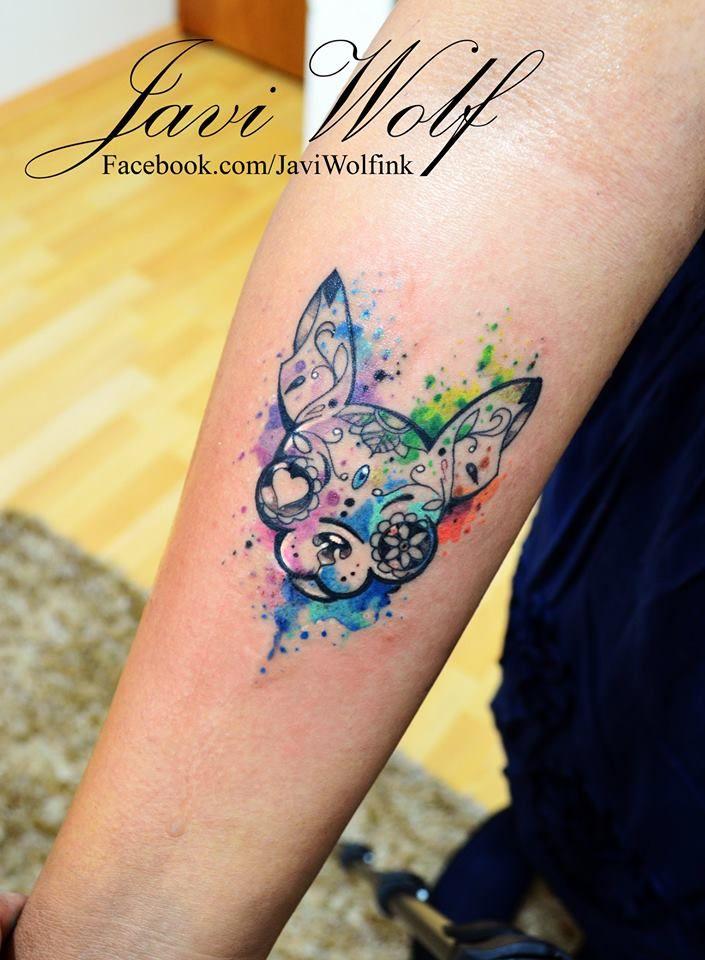 Watercolor Chihuahua Dog Tattoo Tattooed By Javiwolfink Www Facebook Com Javiwolfink Tattoos Chihuahua Tattoo Ink Tattoo
