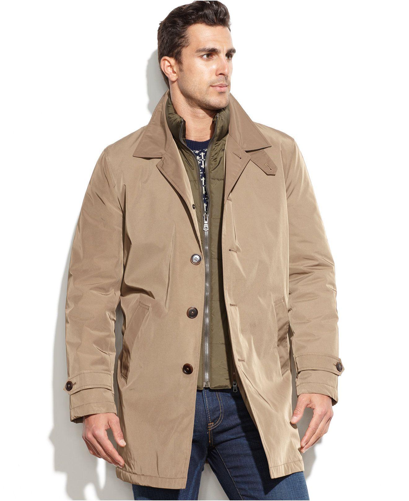 Tommy Hilfiger Puffer Bib Trench Coat Coats Jackets Men Macy S Mens Fashion Suits Formal Coat Mens Fashion Suits [ 1616 x 1320 Pixel ]
