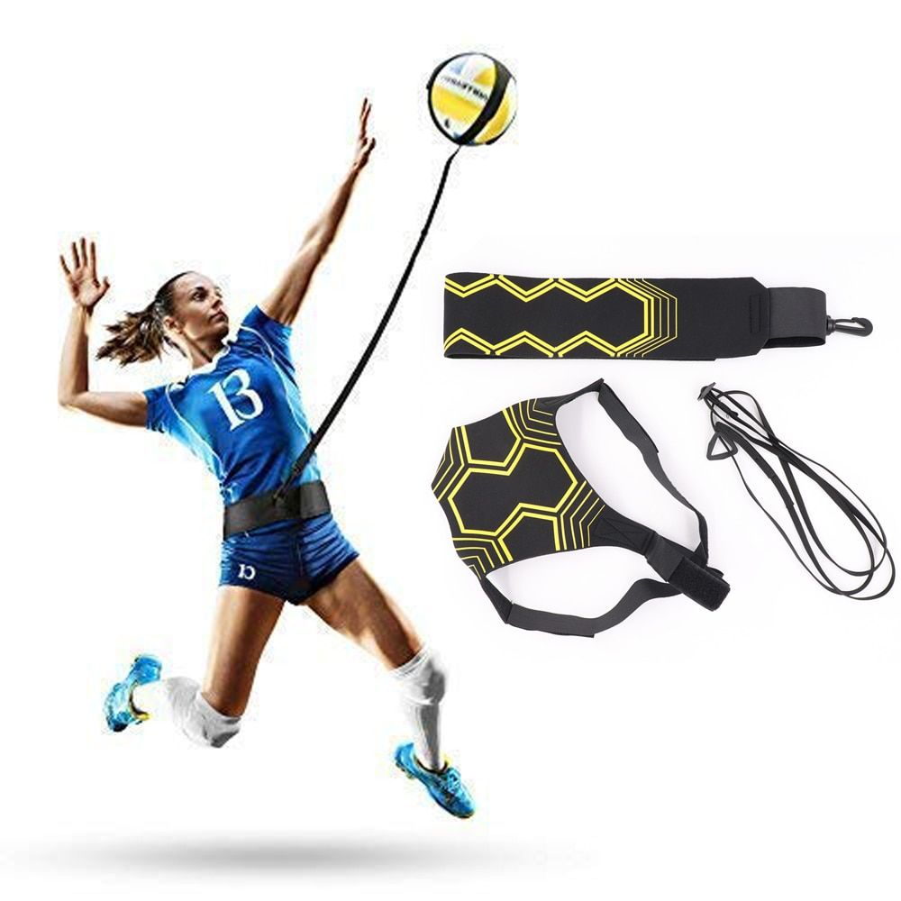 Volleyball Training Equipment Aid Great Trainer For Solo Practice Of Serving Tosses Returns Ball Adjustable Cord Waist Length Way2mall In 2020 Volleyball Training Equipment Volleyball Training Volleyball
