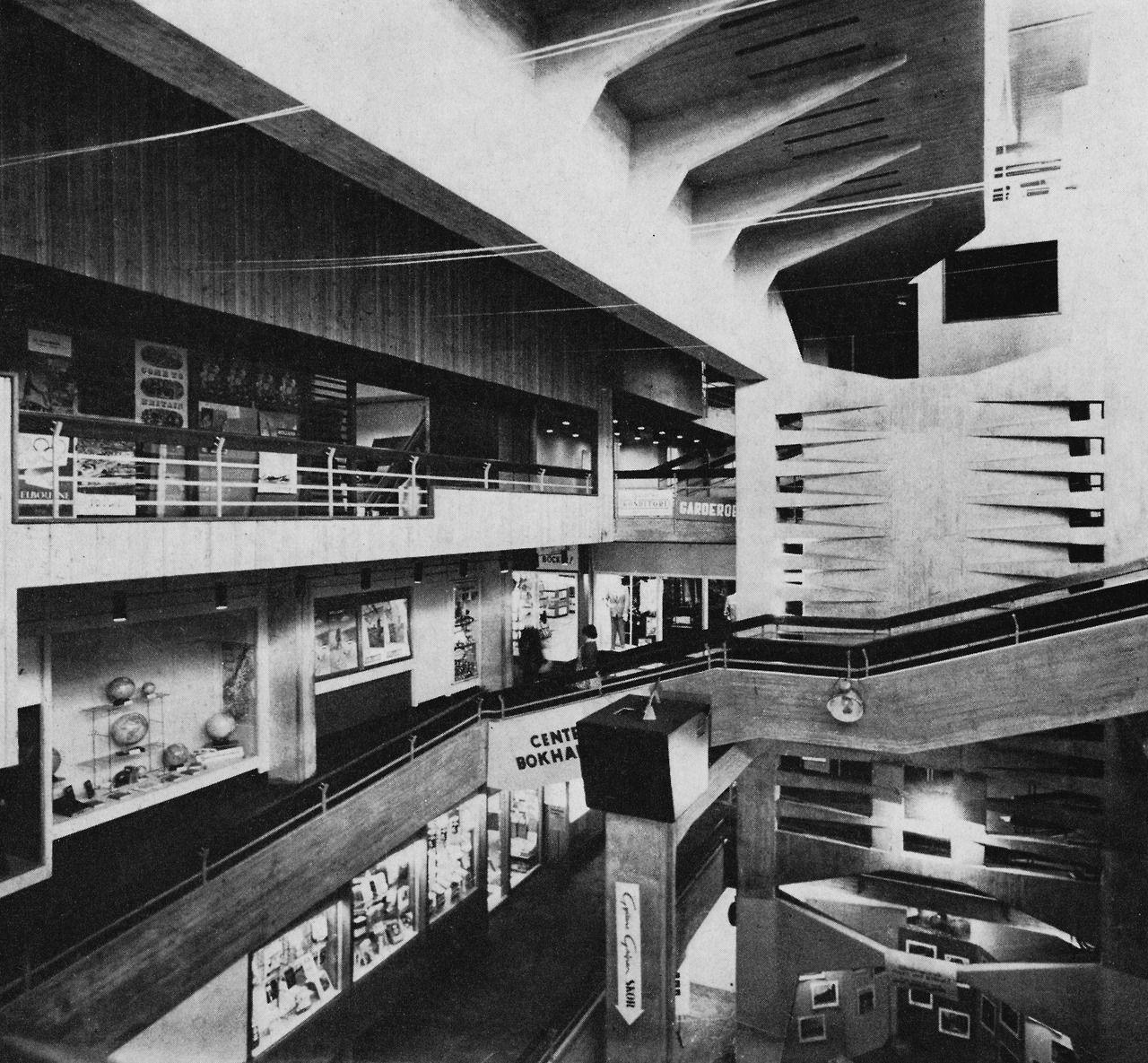 24961ba8cc Shopping Center, Lulea, Sweden, 1955 (Ralph... | modern | Shopping ...