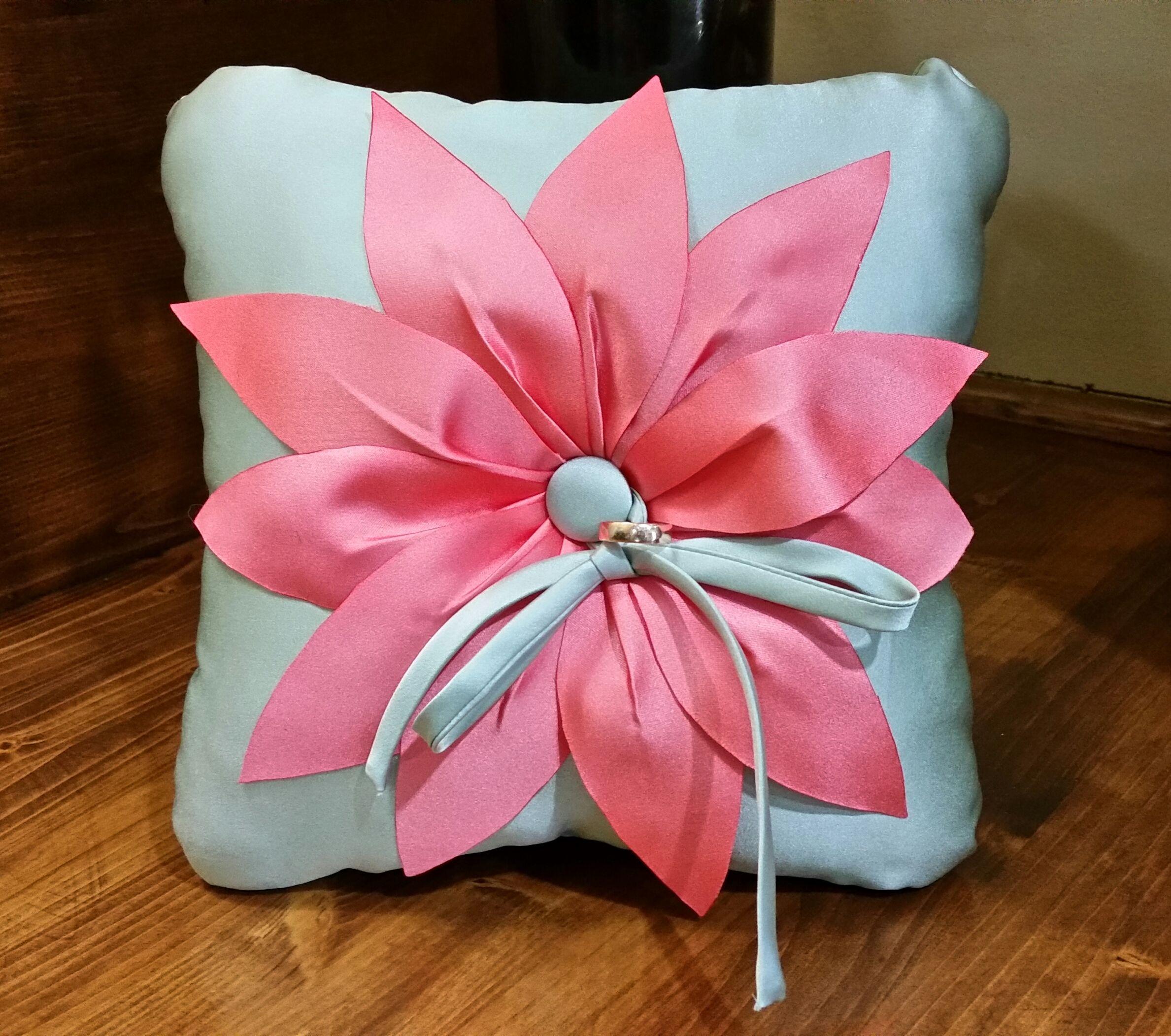 Satin flower ring bearer pillow by Banamoza Bridal | Ring Bearer ...