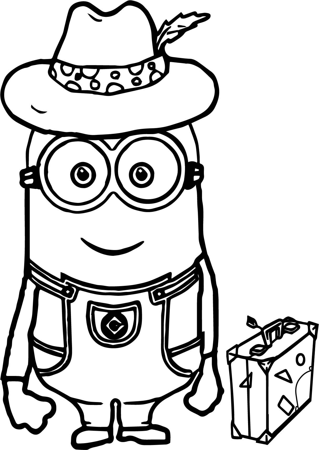 Minions Going Travel Coloring Page Wecoloringpage Frog