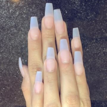 Coffin Nails Are The Creepiest Trend To Come Out Of 2015 Clear Acrylic Nails Long Nails Coffin Nails Designs