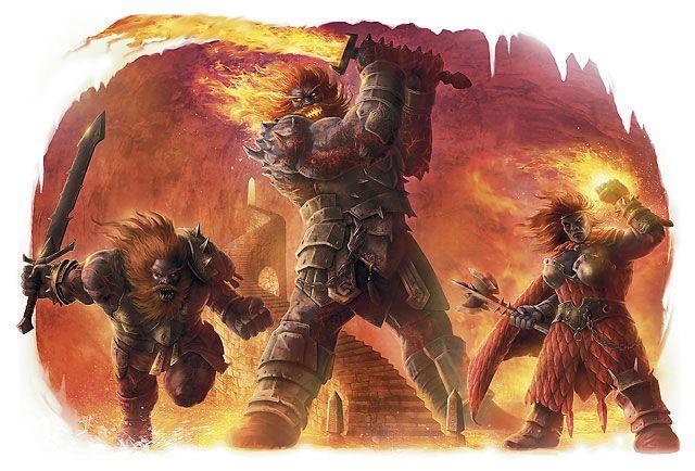 Fire Giants Fire Giants Fantasy Monster Fantasy Rpg