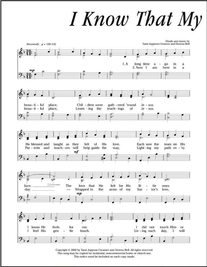Lds Org Friend Article I Know That My Savior Loves Me Lds Music