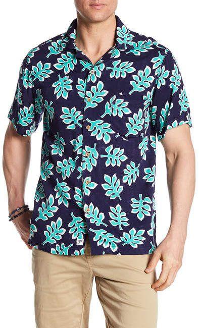 317cc44faa9f7 Trunks Surf and Swim CO. Waikiki Leaf Print Shirt   Products ...