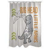 Found it at Wayfair - Big Head Little Arms Dino Shower Curtain