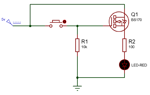 Circuit Using Bs170 N Channel Mosfet Analog Circuits Electronic Organization Electronics Projects