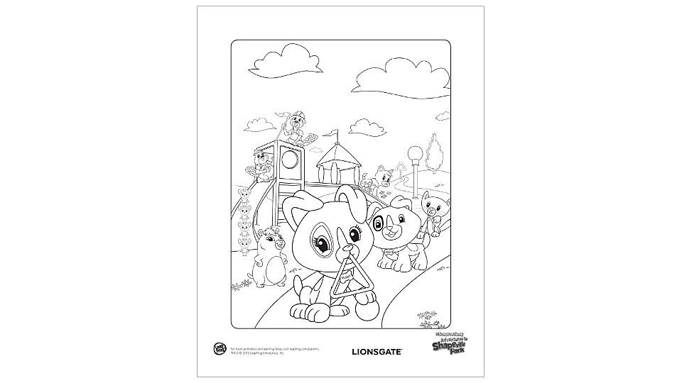 Adventures In Shapeville Park Coloring Page http://www.leapfrog.com ...