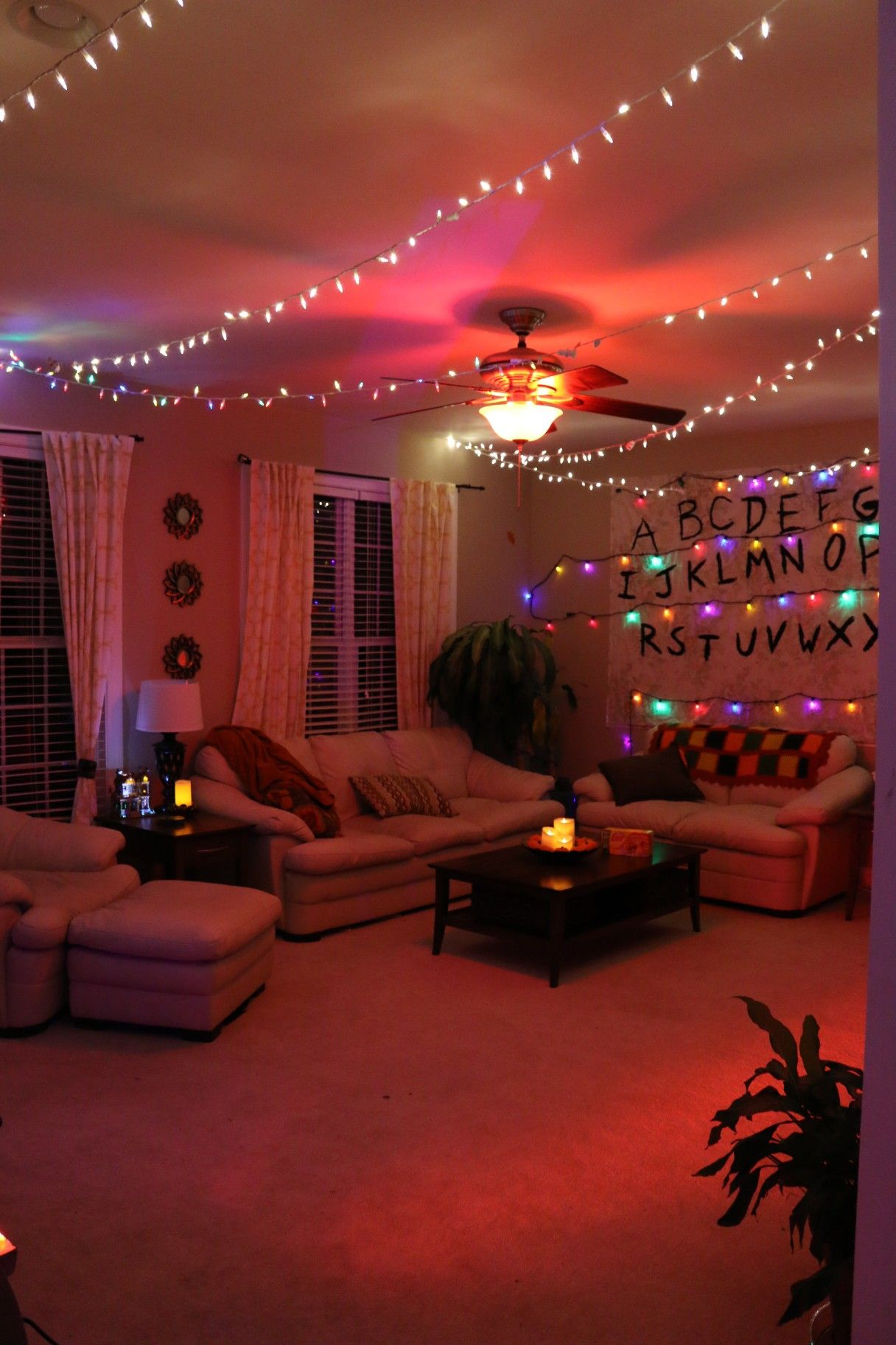 Another photo of Stranger Things-themed living room ...