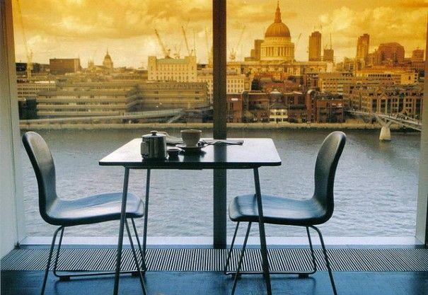 Tate Modern Cafe Modern Cafe Modern Dining Table Modern